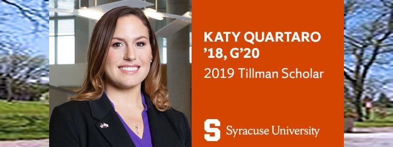 Katy Quartaro '18, G'20 Named a 2019 Tillman Scholar