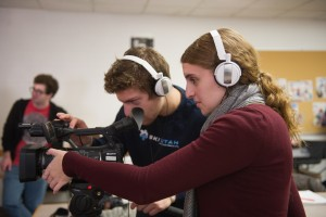 Newhouse Complex Students Classes TRF Television Radio Film Video Cameras Interior