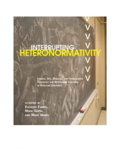 Book cover of Interrupting Heteronormativity
